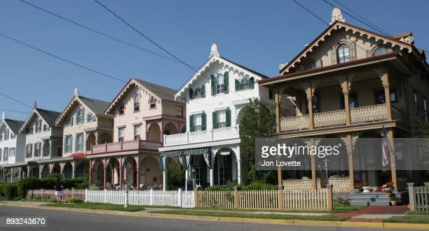 row of houses - cape may stock pictures, royalty-free photos & images