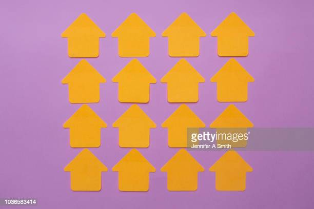 row of housing - house icon stock pictures, royalty-free photos & images