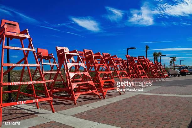 Row of Lifeguard Chairs