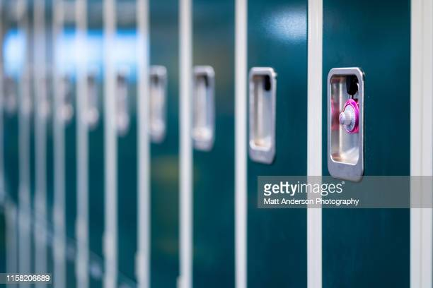 row of lockers 2 - high school building stock pictures, royalty-free photos & images