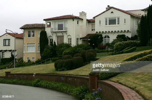 A row of luxury homes are seen May 26 2005 in the Sea Cliff neighborhood of San Francisco California According to a study released Wednesday by San...