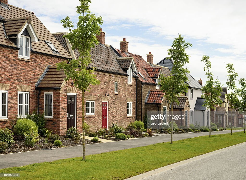 Row of Modern Houses : Stock Photo