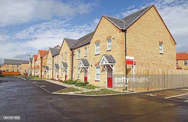 Reihe von neuen Häuser