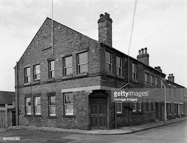 Row of offices Mexborough South Yorkshire 1963 A terrace of offices which formed part of the former Barron's glassworks offices Barron's made glass...