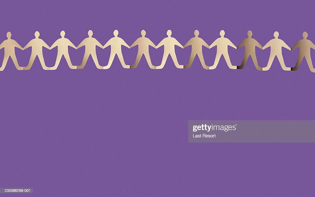 Row Of Paper Doll Cutouts Stock Foto