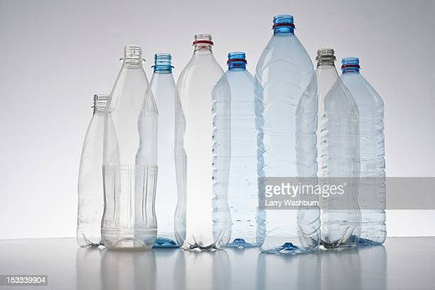 Row of plastic bottles