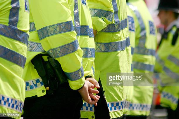 row of police - london protest stock pictures, royalty-free photos & images