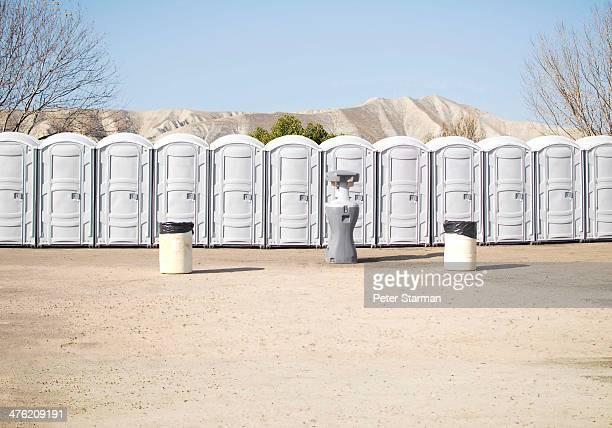 Row of porta potties