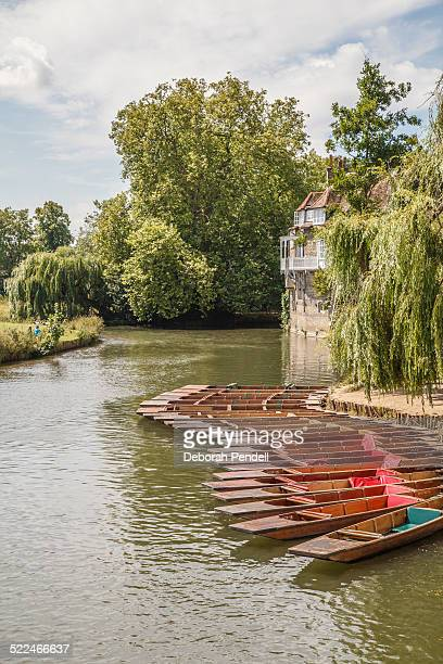 Row of punts on River Cam