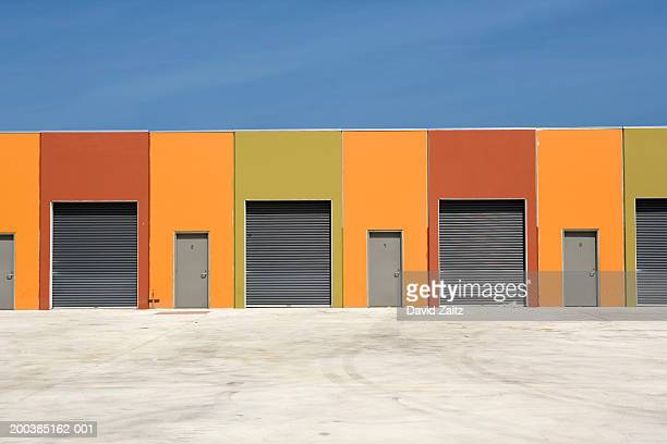 row of self-storage units - self storage stock pictures, royalty-free photos & images