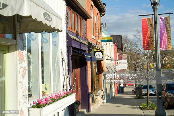 Row of Shops in Downtown Elora