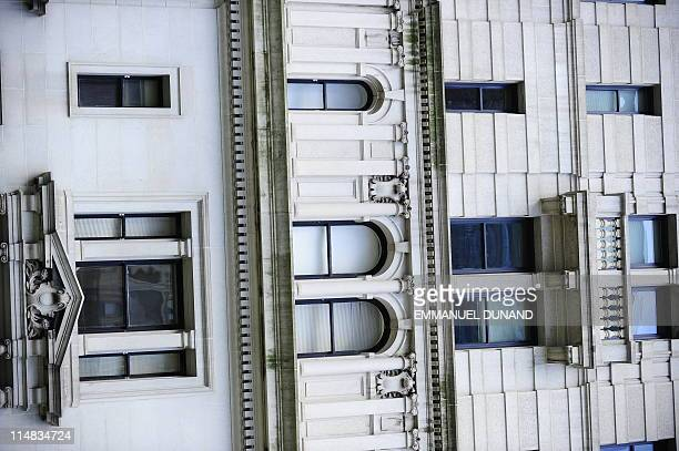 A row of shuttered widows are seen allegedly the windows of the appartment where former IMF head Dominique StraussKahn is being held under house...