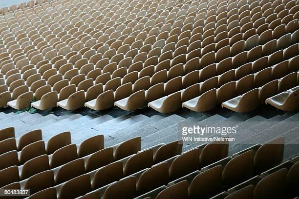 Row of stadium seats