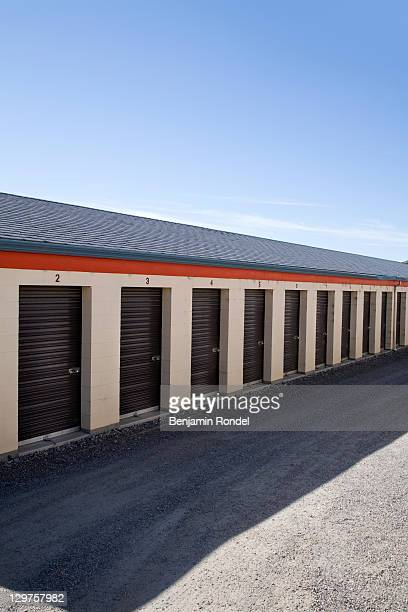 row of storage lockers - self storage stock pictures, royalty-free photos & images