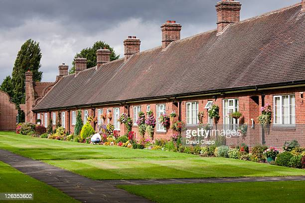 A row of terraced houses in Main St, York City, East Yorkshire, England, UK