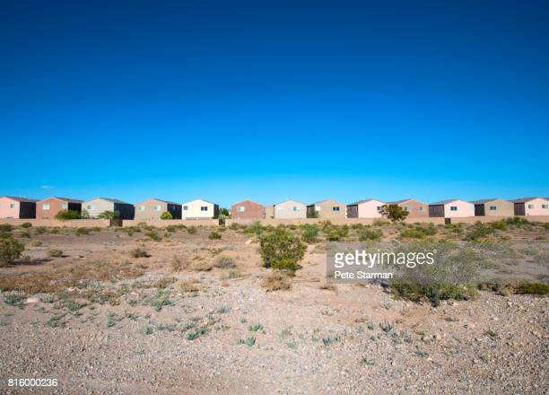 Row of track homes in Las Vegas, Nevada.
