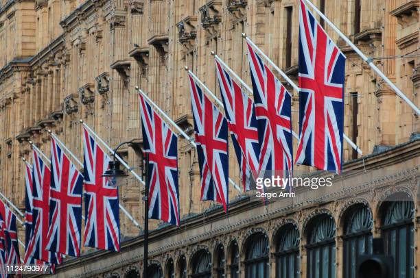 Row of Union Jack flags
