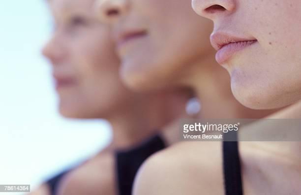 Row of women