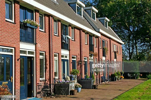 Row suburban houses # 4