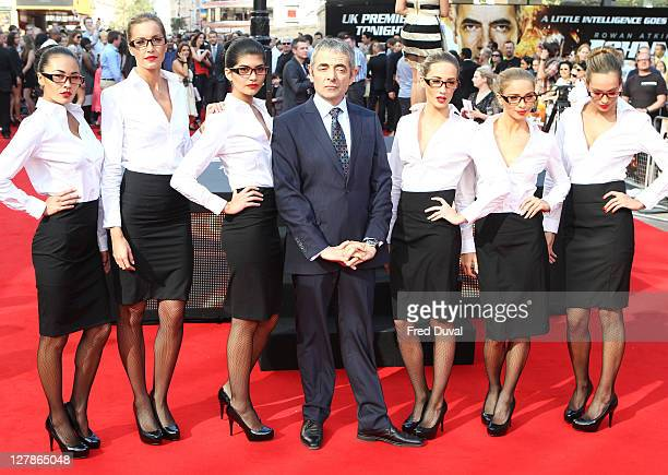 Rowan Atkinson and guests attend the UK premiere of Johnny English Reborn at Empire Leicester Square on October 2, 2011 in London, England.
