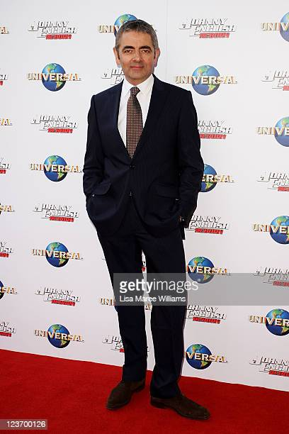 "Rowan Atkinson arrives at the ""Johnny English Reborn"" world premiere at The Entertainment Quarter on September 4, 2011 in Sydney, Australia."