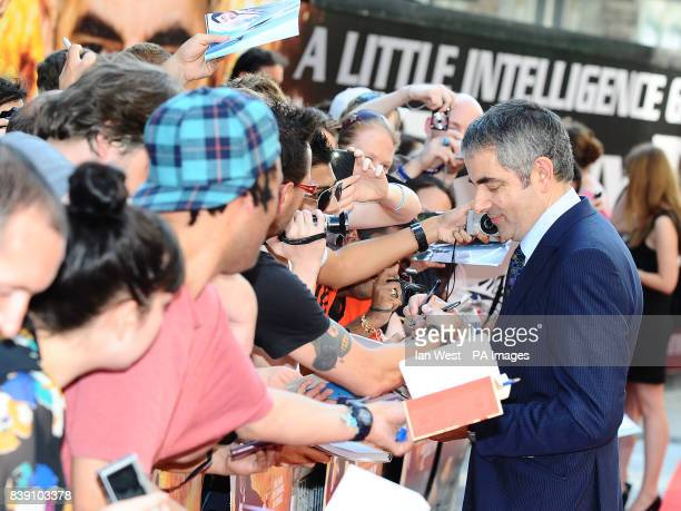 Rowan Atkinson arrives at the premiere of new film Johnny English Reborn at the Empire cinema in London.