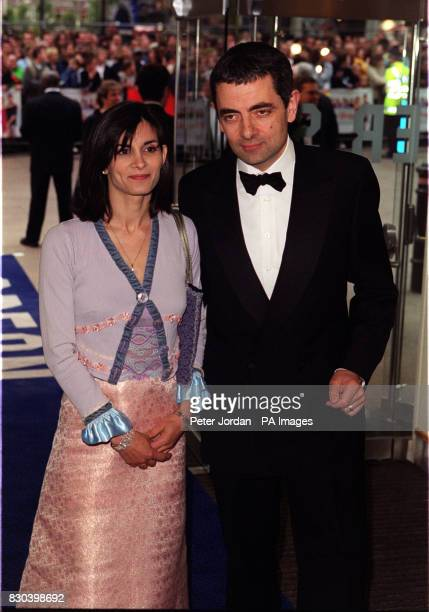 Rowan Atkinson arrives for the premiere of the film Maybe Baby at the Odeon cinema Leicester Square London * 23/3/2001 Rowan Atkinson and wife...