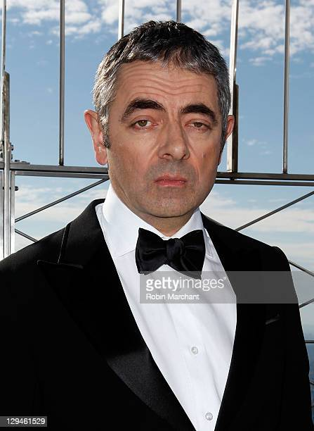 Rowan Atkinson as 'Johnny English' visits The Empire State Building on October 17 2011 in New York City