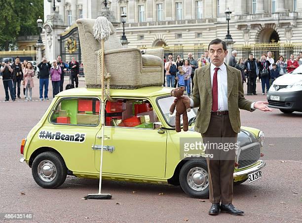 Rowan Atkinson as Mr Bean celebrates 25 years at Buckingham Palace on September 4, 2015 in London, England.