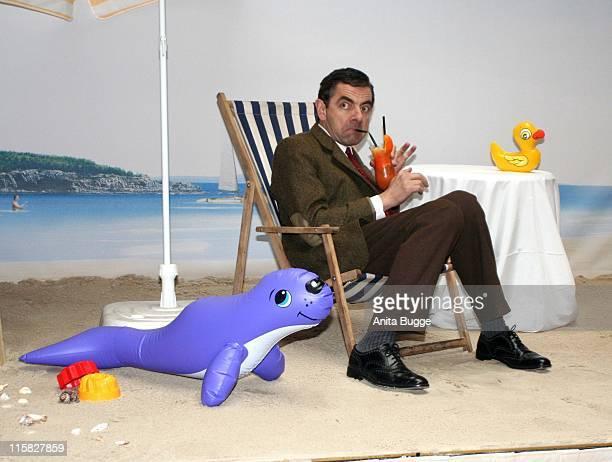 "Rowan Atkinson as ""Mr. Bean"" during ""Mr. Bean's Holiday"" Berlin Photocall at Adlon Hotel Berlin in Berlin, Berlin, Germany."