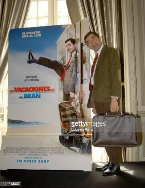 "Rowan Atkinson as Mr. Bean during ""Mr. Bean's Holiday"" Madrid - Photocall at Santo Mauro Hotel in Madrid, Spain."