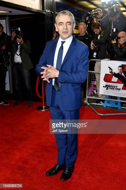 """Rowan Atkinson attends a special screening of """"Johnny English Strikes Again"""" at The Curzon Mayfair on October 3, 2018 in London, England."""