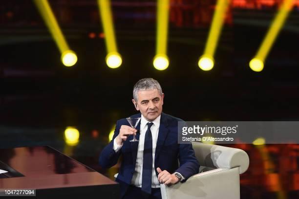 "Rowan Atkinson attends ""Che Tempo Che Fa"" tv show at Rai Milan Studios on October 7, 2018 in Milan, Italy."