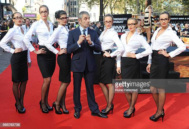 """Rowan Atkinson attends the premiere of """"Johnny English Reborn"""" at Empire, Leicester Square."""