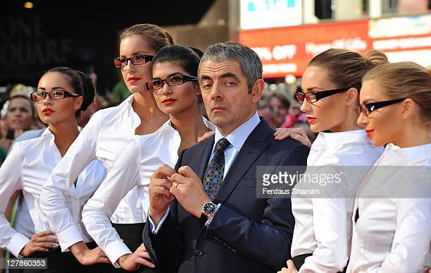Rowan Atkinson attends the UK premiere of 'Johnny English Reborn' at Empire Leicester Square on October 2, 2011 in London, England.