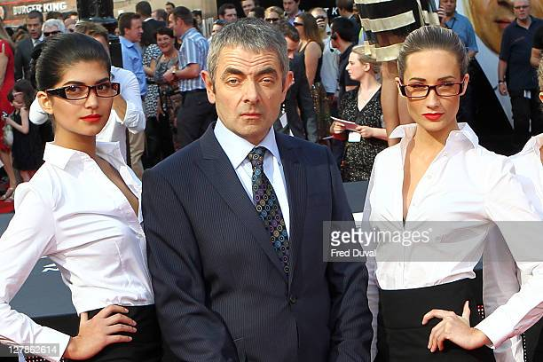 Rowan Atkinson attends the UK premiere of 'Johnny English Reborn' at Empire Leicester Square on October 2 2011 in London England