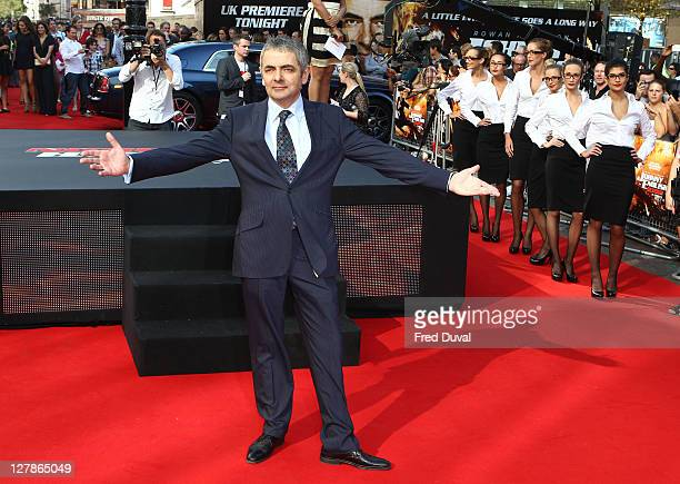 Rowan Atkinson attends the UK premiere of Johnny English Reborn at Empire Leicester Square on October 2, 2011 in London, England.