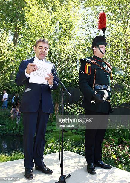 Rowan Atkinson attends the VIP preview day of The Chelsea Flower Show at The Royal Hospital Chelsea on May 19 2014 in London England