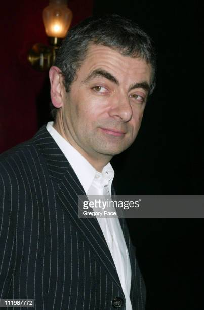 """Rowan Atkinson during """"Love Actually"""" - New York Premiere - Inside Arrivals at Ziegfeld Theatre in New York City, New York, United States."""