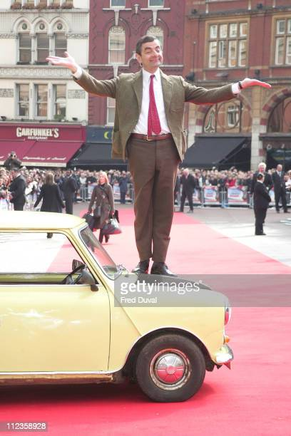 Rowan Atkinson during 'Mr Bean's Holiday' London Charity Premiere Outside Arrivals at Odeon Leicester Square in London Great Britain