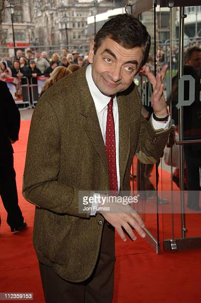 """Rowan Atkinson during """"Mr. Bean's Holiday"""" London Charity Premiere - Inside Arrivals at Odeon Leicester Square in London, Great Britain."""