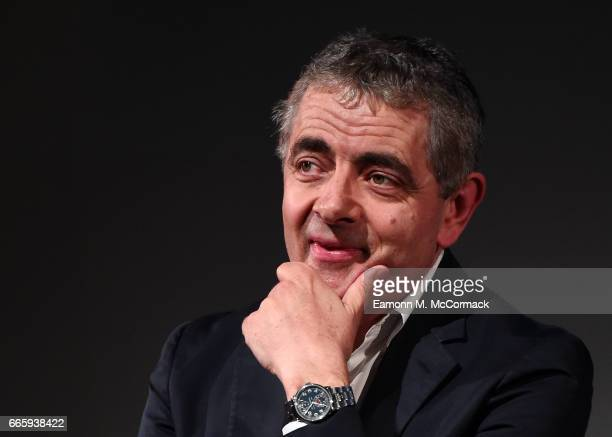 Rowan Atkinson in Q&A following a Screening of 'Maigret' at the BFI & Radio Times TV Festival at BFI Southbank on April 7, 2017 in London, England.
