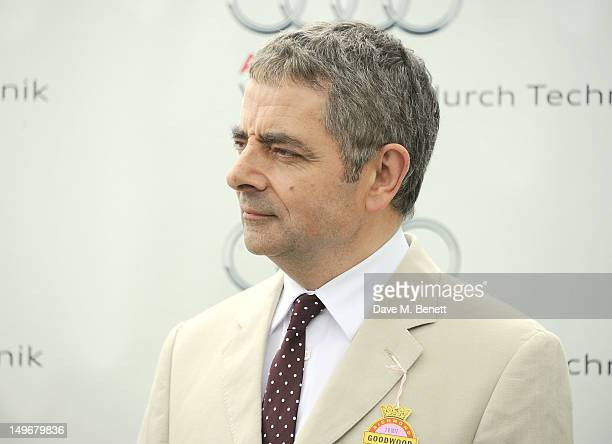 Rowan Atkinson presents The Magnolia Cup during Ladies Day at Glorious Goodwood held at Goodwood Racecourse on August 2 2012 in Chichester England