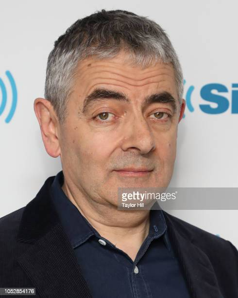 Rowan Atkinson visits the SiriusXM Studios on October 23, 2018 in New York City.