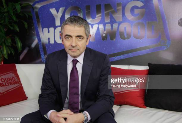 Rowan Atkinson visits the Young Hollywood Studio on October 15 2011 in Los Angeles California