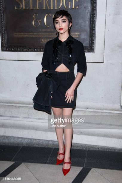 Rowan Blachard attends the Pat McGrath 'A Technicolour Odyssey' Campaign launch party at Brasserie Of Light on April 04 2019 in London England