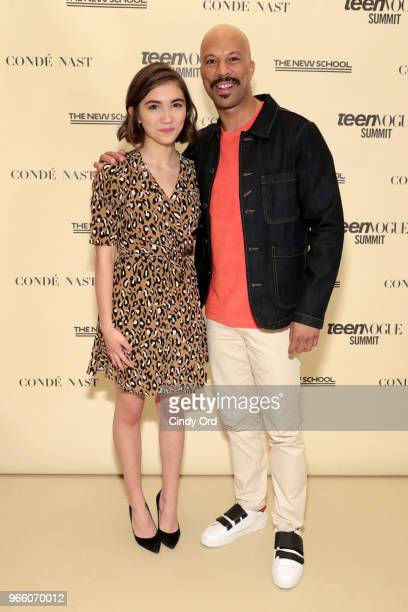 Rowan Blanchard and Common attend Teen Vogue Summit 2018: #TurnUp - Day 2 at The New School on June 2, 2018 in New York City.