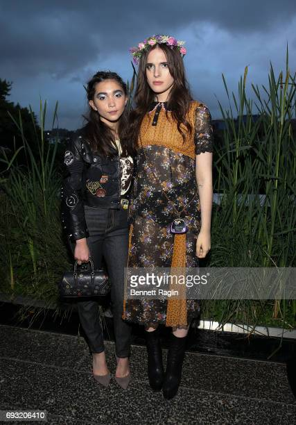 Rowan Blanchard and Hari Nef attend the Coach and Friends of the High Line Summer Party at High Line on June 6 2017 in New York City
