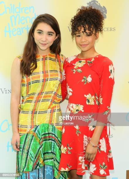 Rowan Blanchard and Storm Reid attend the Children Mending Hearts 9th Annual Empathy Rocks Fundraiser on June 11 2017 in Beverly Hills California