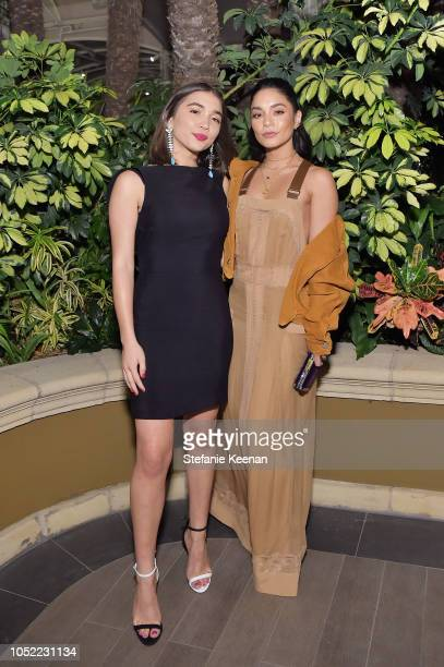 Rowan Blanchard and Vanessa Hudgens attend ELLE's 25th Annual Women In Hollywood Celebration presented by L'Oreal Paris, Hearts On Fire and CALVIN...
